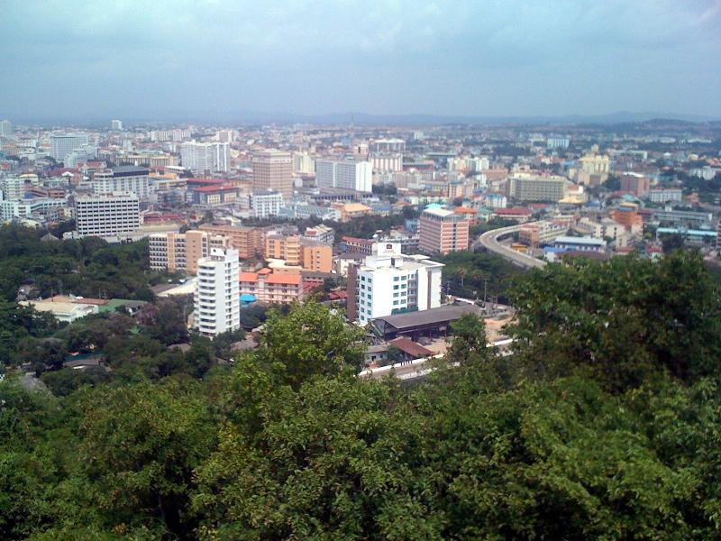 Паттайя, вид сверху, город