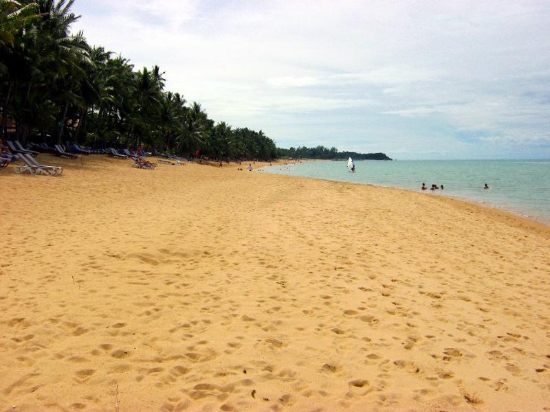 Пляж, виндсерферы